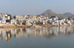 Den heliga dammen i Pushkar