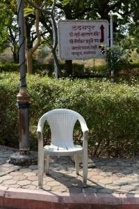 Jaintemplet i Ranakpur i bakgrunden