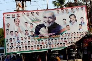 Valets segrare BJP, men, Hur många kvinnor finns på affischen?