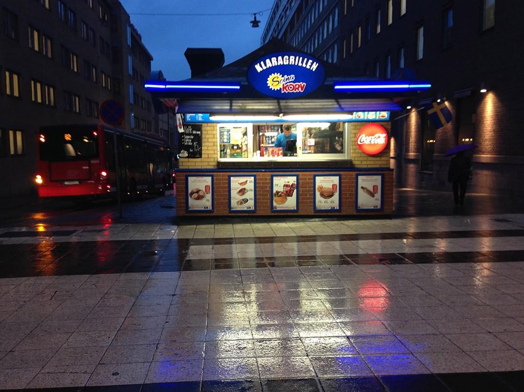 Korvkiosken på Drottninggatan